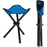 Lysport Taburete de trípode al aire libre Portable plegable pequeño 3-Legged silla de lona para ir de excursión Camping Fishing Picnic Playa de barbacoa de viaje Backpacking jardín asiento