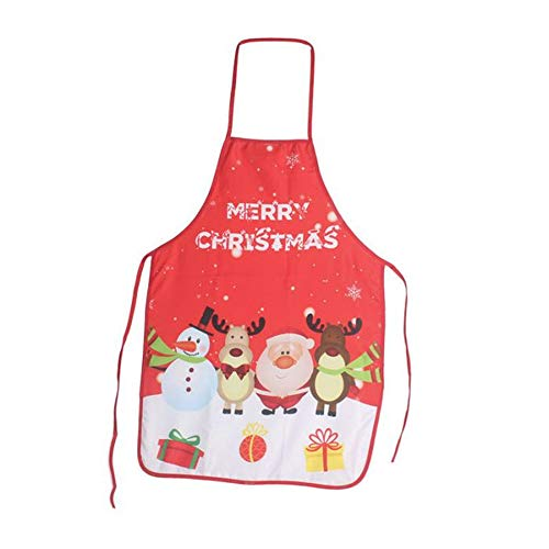 mhde Schürzen 1 Stücke Schürze Kleid Weihnachtsart Geschenk Für Küche Grill Picknick CampingE (Kurze Bauer Kleider Für Frauen)