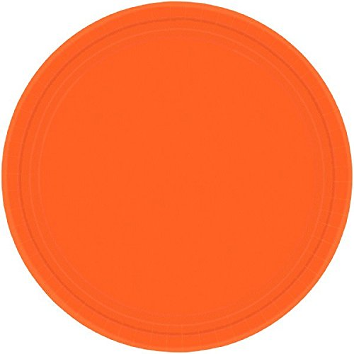 amscan International 17,7 cm Teller (orange PL)