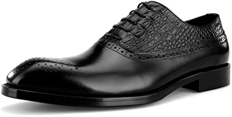 Zapatos Clásicos de Piel para Hombre Spring Men Business Formal Wear Zapatos de Hombre de Cuero de Estilo Británico... -