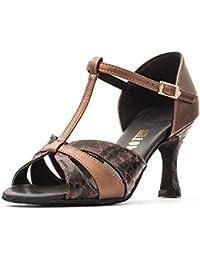 Ladies All Colours Social Ballroom Dance Shoes GINA 25 Flare Heel By  Topline Katz Dancewear