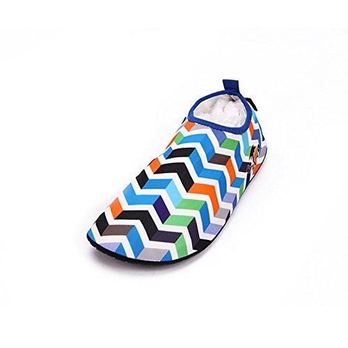 Neeiors unisex pieghevole a piedi nudi acqua scarpe in pelle per esercizi yoga spiaggia nuoto surf Blue