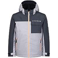 Dare 2b - Chaqueta de esquí con Aislamiento Impermeable para niños, Infantil, Color Cyberspace Grey/Ebony Grey, tamaño 7-8
