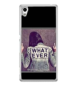 What Ever 2D Hard Polycarbonate Designer Back Case Cover for Sony Xperia Z4