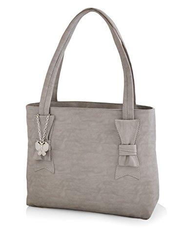 Butterflies Women\'s Handbag (Grey) (BNS 0595GY)