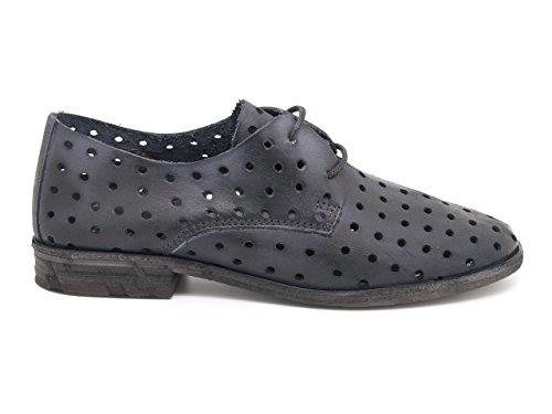 Felmini - Damen Schuhe - Verlieben Cuba 9650 - Slipper-Schuhe - Echte Leder - Blau Schwarz