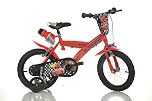 CARS LIGHTNING Original 16 inch KIDSBIKE boy child-bike childrenbike bicycle toybike red training-wheels water-bottle mudguard from DINO BIKES