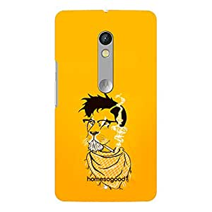HomeSoGood Landlord Lion Yellow 3D Mobile Case For Moto X Play (Back Cover)