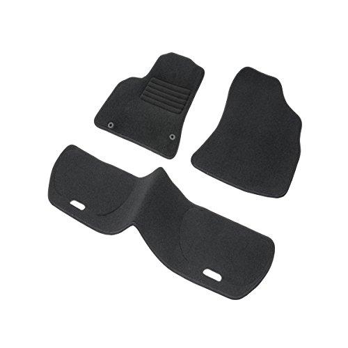 DBS 1765703 Tapis Auto - Sur Mesure - Tapis de sol pour Voiture - 3 Pièces - Antidérapant - Moquette noir 900g/m² - Finition Velours - Gamme Star