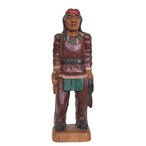 Discount Ethnic Statue aus Holz Akazie Indianer H65cm.