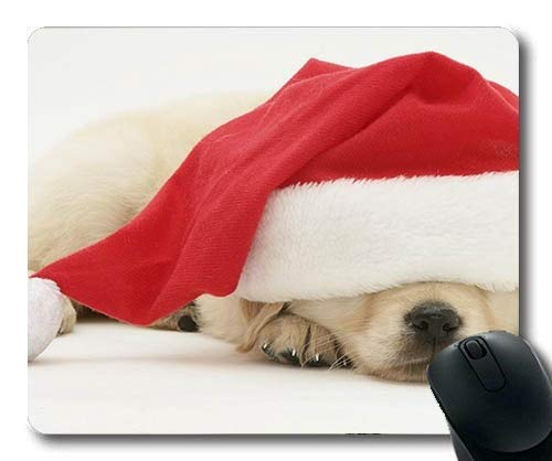 Gaming Mouse Pads, Mops Hund Druck Weihnachten Hund, Präzisionsnaht, Robuste Mauspad