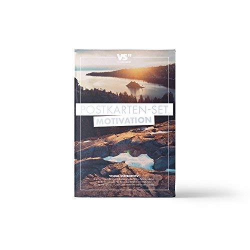 VISUAL STATEMENTS 20er Postkarten Set LIEBE, FREUNDSCHAFT; GLÜCKSBRINGER mit Sprüchen / 2 verschiedene Varianten / 20 verschiedene hochwertige Spruchkarten (Motivation)