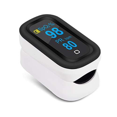 Oxímetro ELEVENSES, Oxímetro de Pulso para Dedo. Monitor con Saturación de Oxígeno en sangre con Pantalla OLED