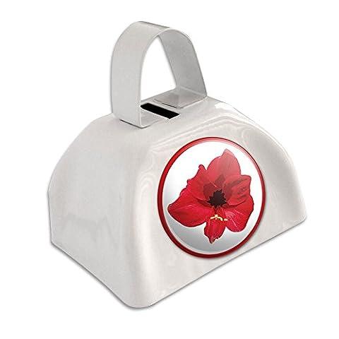 Fleur d'Hibiscus Luau Hawaï Mariage Plage tropicale de douche Blanc cloche Cowbell Vache Bell