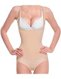 355b02a498c Bafully Bodysuit Waist Trainer Thong Underwear Slimming Shapewear for Women  Tummy Control Full Body Shaper