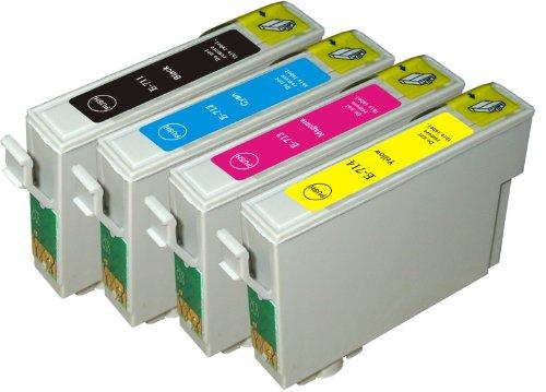 ECS 4cartouches d'encre compatibles avec imprimantes Epson Stylus S22 SX125 SX420W SX425W BX305F BX305FW Remplacement T1285 multipack, T1281 noir, T1282 cyan, T1283 magenta, T1284 jaune