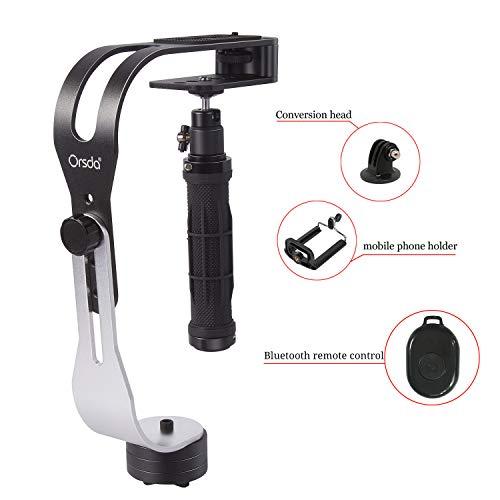 Professional Steady Video Stabilizer está diseñado para su uso con videocámaras, cámaras réflex digitales, cámaras réflex digitales HD, etc. El peso máximo del rodamiento es 2,1 libras. Proporciona una excelente estabilidad y reduce la vibración d...