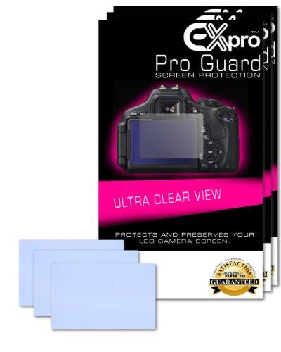 Ex-Pro® 3 x Pro Guard Ultra Displayschutz LCD Screen Protectors für Canon EOS-5D Mark II [Both Screens] Lcd Scratch Guard