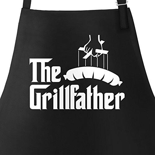 The Grillfather Grillschürze für Männer und Paten am Grill Moonworks® schwarz unisize