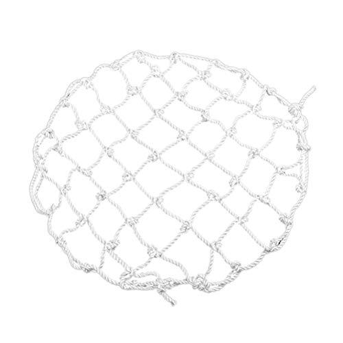 LIOOBO Filet de sécurité de Haute résistance de Grande résistance de Forme Ronde de diamètre avec Le Crochet Fixe galvanisé par Fer de 8 M8 700mm