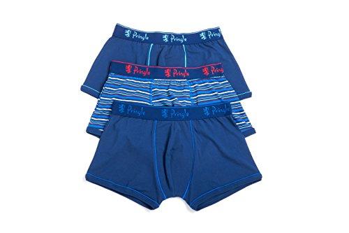 Pringle Herren 3er Pack Edward Fashion Trunks BLUE-STRIPE/PLAIN