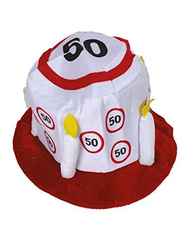 TrendClub100® Geburtstag Party Traffic Hut - Verkehrsschild Nr. 50