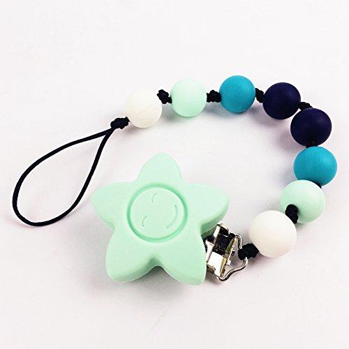 Chupete clip Beads masticables para bebé de la categoría alimenticia materiales seguros y mordedores para bebés Natural de silicona Mordedor Juguete