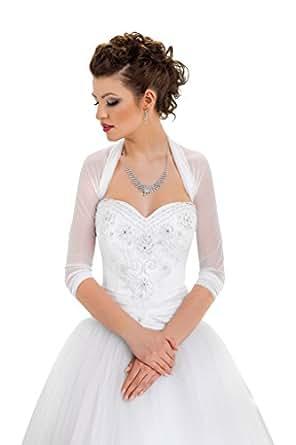 femme veste de mariage gilets bol ros etoles bol ro ch le pour la mari e blanc ivoire tulle. Black Bedroom Furniture Sets. Home Design Ideas
