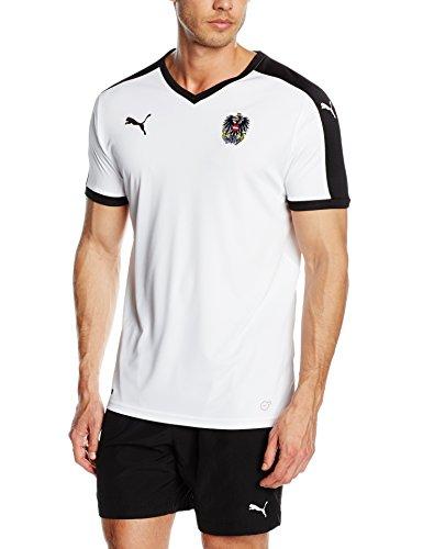 Herren Fußball Replica Trikot (PUMA Herren Trikot Austria Away Replica Shirt White-Black, S)