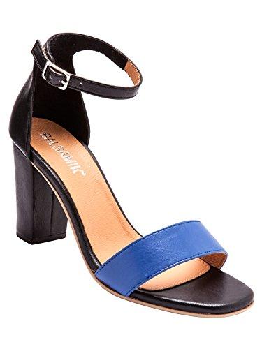 Balsamik - Sandali in pelle bicolore - - Size : 37 - Colour : Blu/Nero
