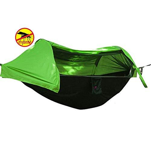 JLJ Outdoor Camping Hängematte Mit Moskitonetz Tragbare Integrierte Hängezelte Im Freien Mosquito Ground Camping Tree (Color : Green, Size : 270cm×140cm)
