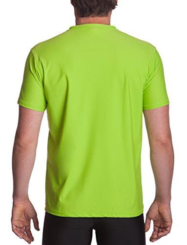 iQ-UV Herren 300 Regular Geschnitten, V-Ausschnitt Schutz T-Shirt Neon-Green