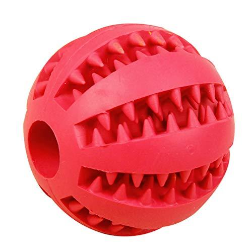 fgyhtyjuu 5.2cm / 7cm Hundespielzeug-Kautschuk Zahnreinigungskugeln Haustier Hund-Katze-Welpen Elastizität Zähne Kugel Feeder Kauspielzeugen -