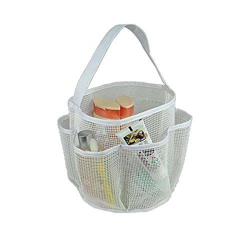Mesh Shower Caddy Tote Mesh Dusche Badezimmer Single Griffe Aufbewahrungstasche Weiß (Kunststoff Caddy Weiß Dusche)
