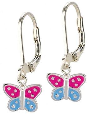 SL-Silver Ohrringe Schmetterling Punkte 925 Silber in Geschenkbox