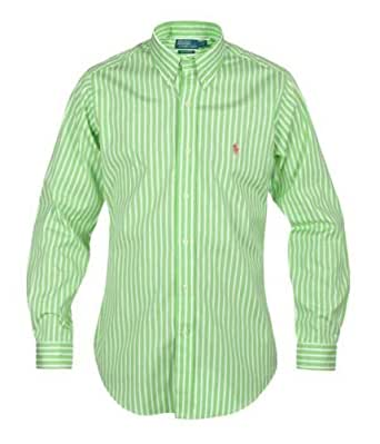 new concept 1facc c506d Ralph Lauren - Camicia da Uomo a Righe, Colore: Verde/Bianco ...