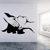 Spa Salon Stones Wall Decals Facials Skincare Massage Wall Sticker Beauty Salon Wall Decal Woman Face Vinyl Home Decoration 57x87cm