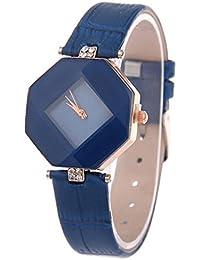 Reloj de mujer ❤️ Amlaiworld Moda Relojes niña Reloj de pulsera de diamantes de imitación de moda Vestido Reloj de cuarzo de mujer Pulseras Joyería Señora Relojes de bolsillo (Azul)