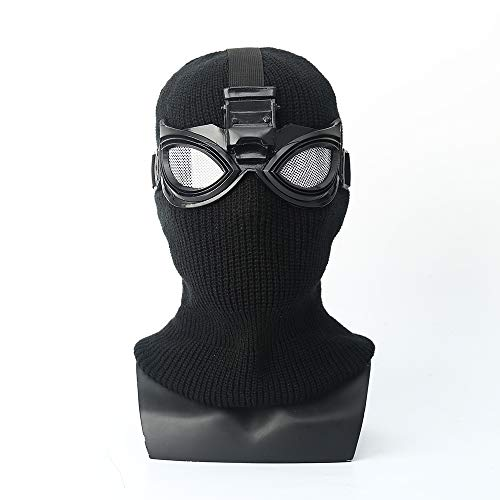 K-Y YK Spider-Man: Far from Home Mask Head Cover Black Mask Shadow Sneak Battle Suit Cosplay Spider-Man (Black)