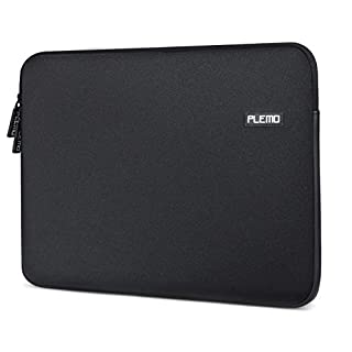 Laptop Sleeve, PLEMO Water-Resistant Soft Neoprene 13 - 13.3 Inches Laptop Case Sleeve Cover Bag for 12.9 iPad Pro / 13.3 Inches MacBook Air / MacBook Pro / Pro Retina / Notebook Computer / Tablet PC / Ultrabook / Chromebook, Black