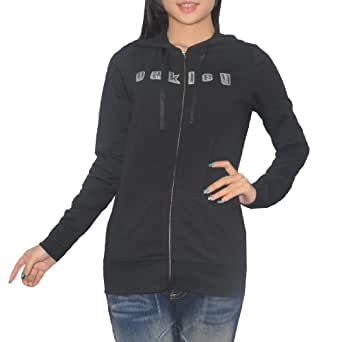 Oakley Womens Surf & Skate Zip-Up Hoodie X-Large Black