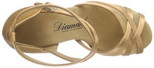 Diamant - Diamant Damen Latein Tanzschuhe 035-087-087, Scarpe da ballo Donna Marrone (Bronze)