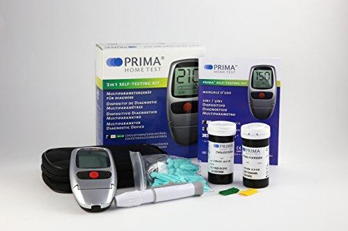 Cholesterin Messgerät (mit 5 Cholesterin-Teststreifen und 5 Triglycerid-Teststreifen)