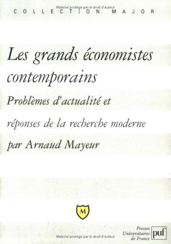 Les Grands Économistes contemporains