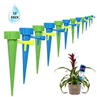 AllGoodWare Plant Watering Spikes Predictable Use Time Devices System-Vacation Automatic Drip Irrigation Watering Care Your Flower Travel Forgetting Potted Plants