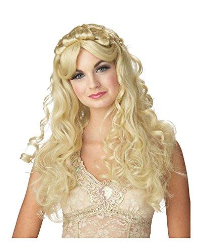 Horror-Shop Dornen Prinzessin Perücke Blond (Mittelalterliche Lange Blonde Perücke)