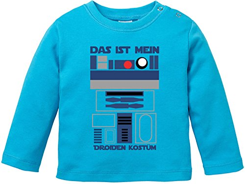 EZYshirt Das ist Mein Droiden Kostüm Bio Baumwolle Baby T-Shirt Longsleeve (Luke Skywalker Baby-kostüm)