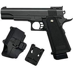rayline Airsoft Pistolet Softair G6+ Full Metal (Pression de Ressort Manuelle), Reproduction à l'échelle 1: 1, Longueur: 29cm, Poids: 528g, (Moins de 0.5 Joule - à partir de 14 Ans)