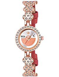 Youth Club Preety and Beautiful Daimond Studded Bracelet Type Analog Watch for Girls