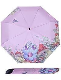 YKYM Golf Paraguas Plegables Mango Comfort Mejorado Ligero Compacto con Protección UV Regalo Ideal Hombres Y
